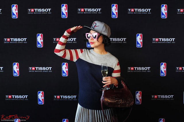 White Caviar Life's Vivienne Shui at the TISSOT NBA Finals Party Sydney - Photography by Kent Johnson.
