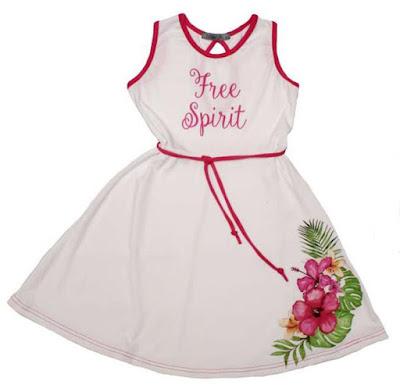 Moda en vestidos para nena primavera verano 2018.