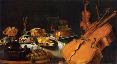 Pieter Claesz- Nature morte aux instruments de musique,1623.