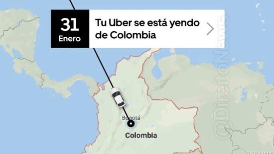 uber encerrar operacoes colombia fevereiro direito