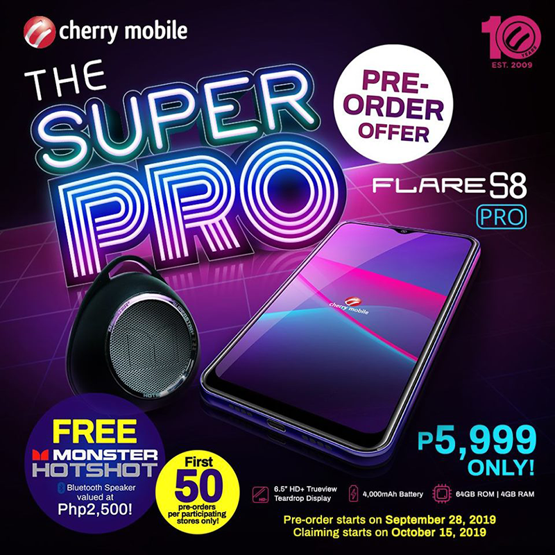 Cherry Mobile reveals Flare S8 Pro with 4GB RAM/64GB storage for PHP 5,999