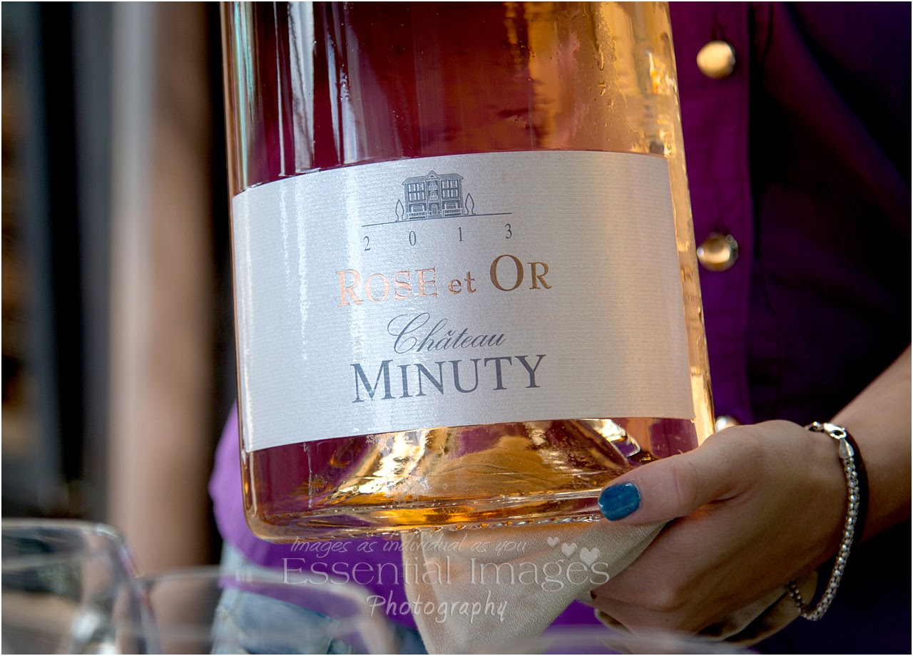 close up of label on the minuty wine