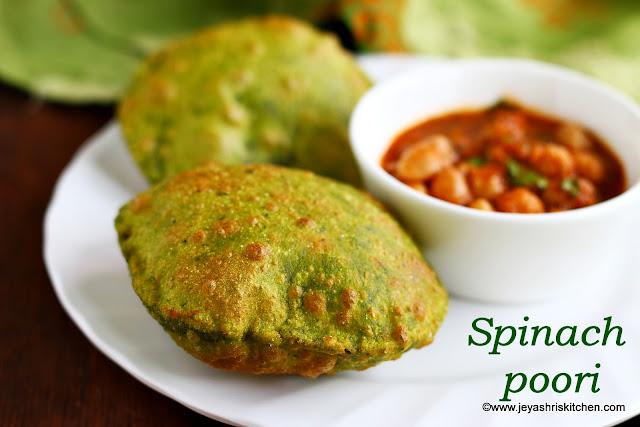 Palak-poori recipe