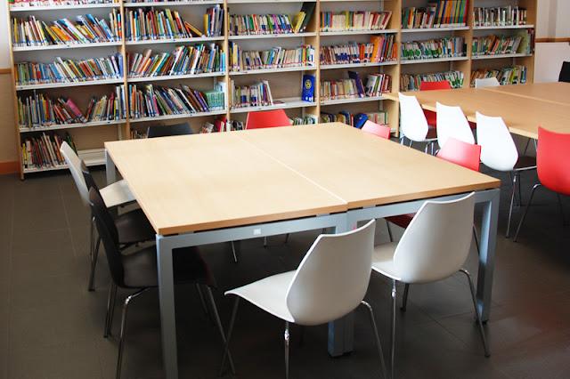 Mesas de biblioteca y comedor