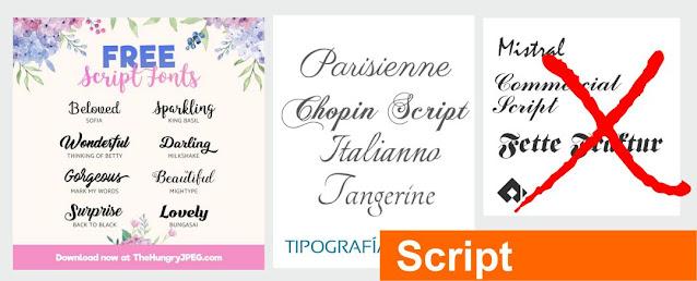Tipografías Script
