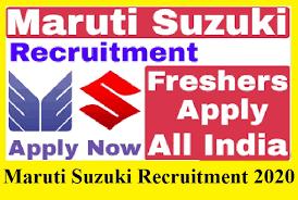 ITI पास फ्रेशर छात्रों के लिए मारुती सुजुकी गुडगाँव व् मानेसर प्लांट से अपरेंटिस करने का मौका   Apprentice Vacancy In Maruti Suzuki Cars Plant For ITI Fresher Candidates