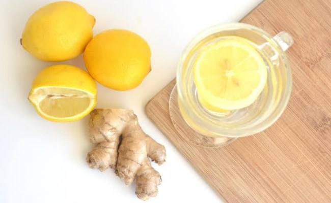 Jahe dan jus lemon