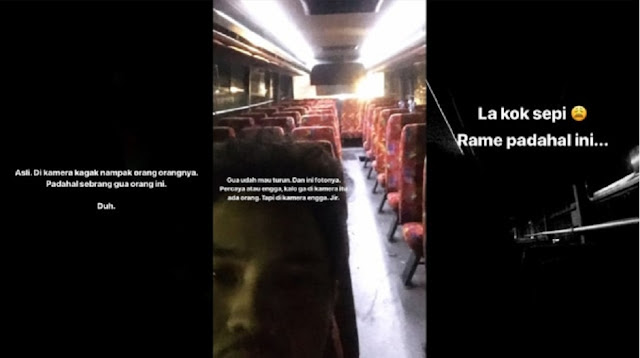 Viral! Pria Ini Naik Bus Hantu Cikampek-Bandung, Penumpangnya Pucat dan Tak Nampak di Kamera