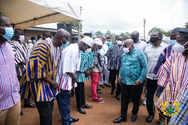 President Akufo-Addo Cuts Sod For $30 Million Yendi Water Supply Project
