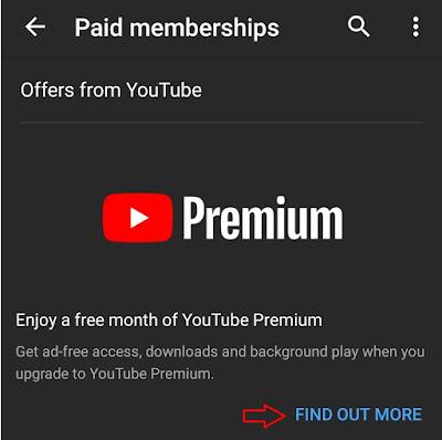 youtube premium free trial