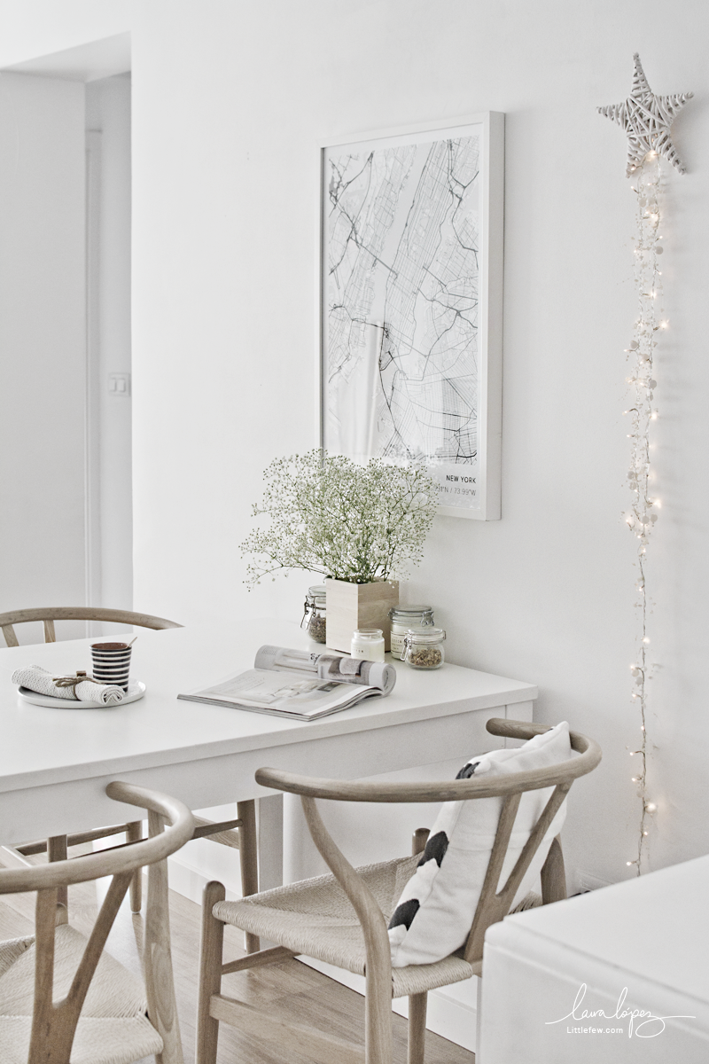 NEW MODERN AND MINIMAL MAP IN THE DINING-ROOM / DECORAR EL COMEDOR CON UN MAPA MODERNO Y MINIMALISTA