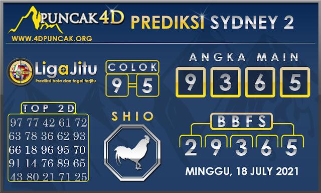 PREDIKSI TOGEL SYDNEY2 PUNCAK4D 18 JULY 2021