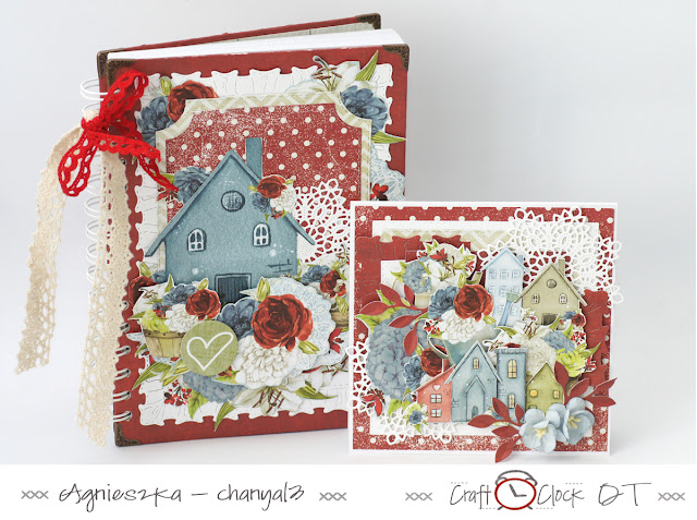331. Notes i kartka z domkami