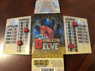 Itty Bitty Dungeon Delve by Concrete Canoe Games Box Experience Track Markers Level 5