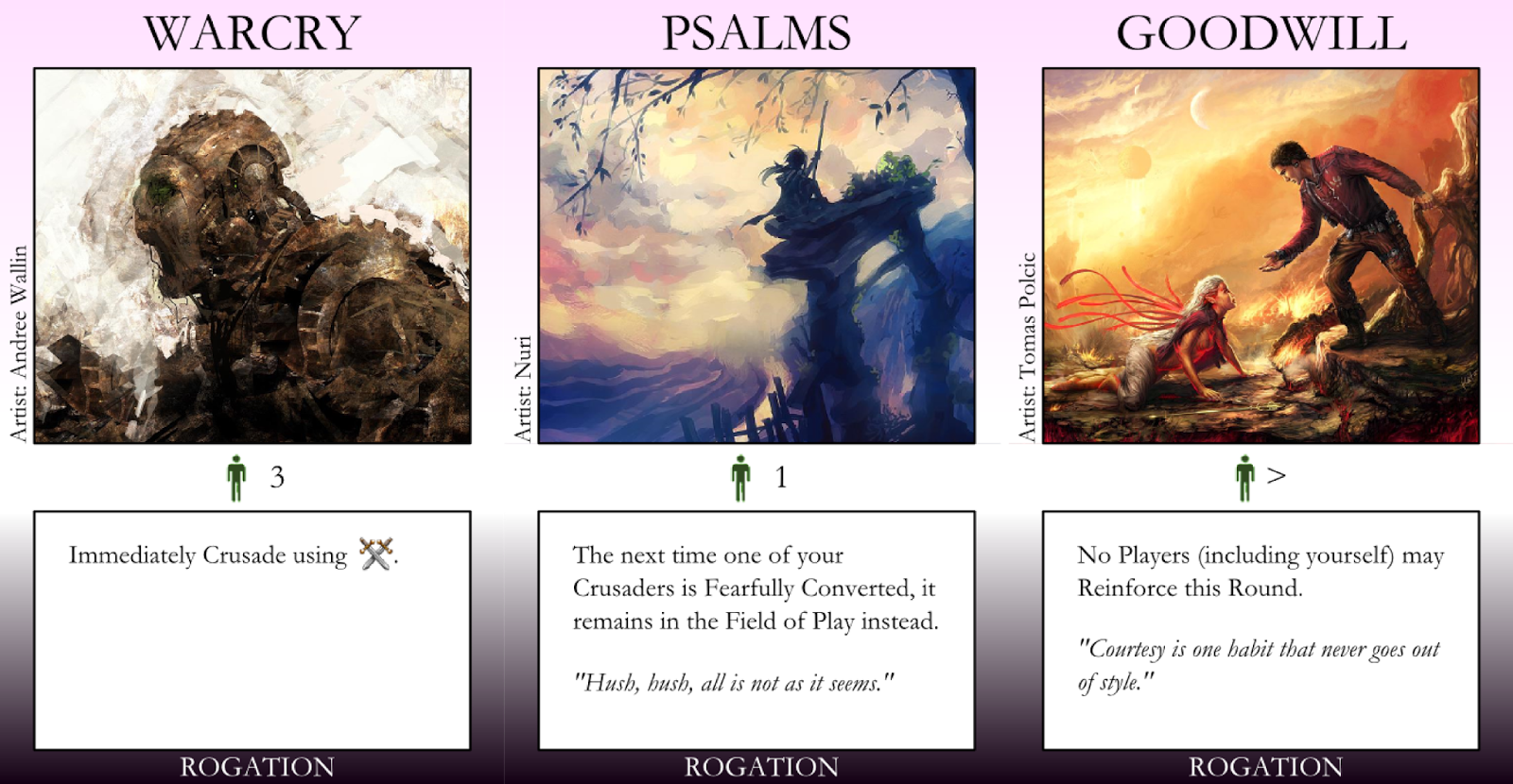 Warcry, Psalms, & Goodwill