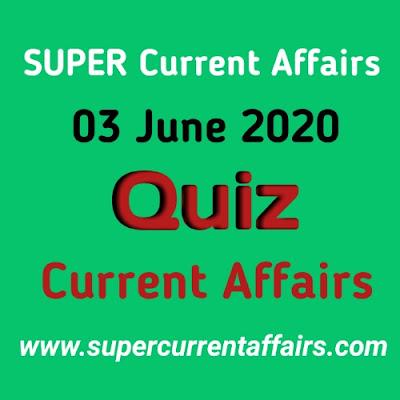 3 June 2020 Current Affairs Quiz in Hindi