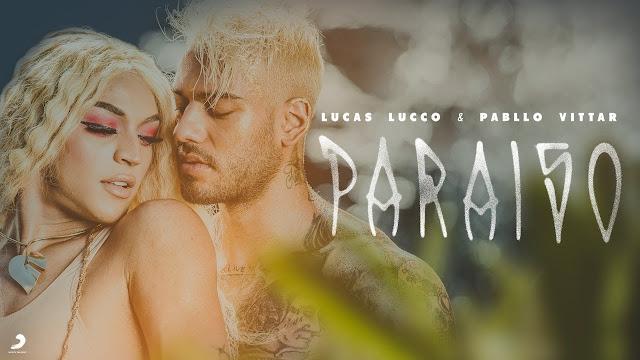"""""""Essa Eva já veio com a serpente?"""" Em novo clipe Lucas Lucco e Pabllo Vittar são """"Adão e Eva"""" no 'Paraíso'"""