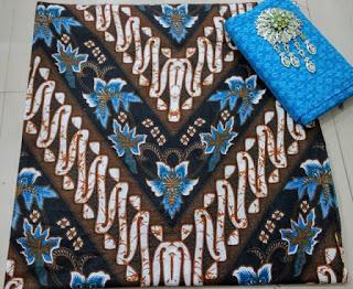 Kain Batik dan Embos AD 2938 Motif Parang Biru