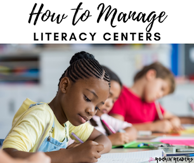 These 4 quick easy tips will help you manage your literacy centers!  Perfect for the kindergarten, first grade, and second grade classroom!