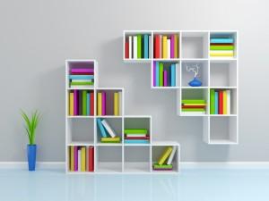 lemari rak buku minimalis modern