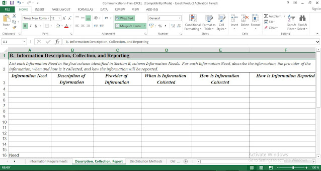 Free Project Communications Plan Template