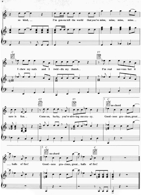 Partitura Piano Jerry Lee Lewis