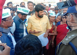 कृषि बिलो को लेकर केन्द्र सरकार के खिलाफ निकाली ट्रेक्टर रैली