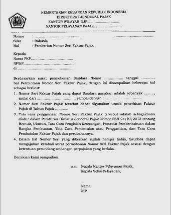 64 Free Download Contoh Surat Pembatalan Nomor Seri Faktur Pajak