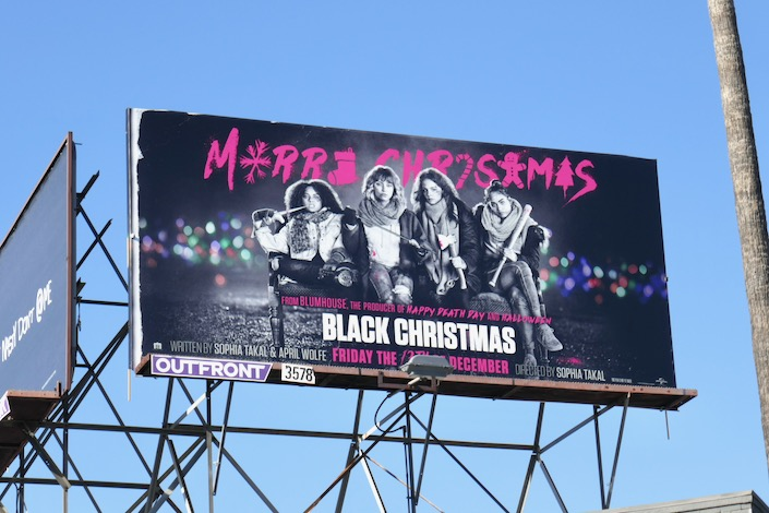 Black Christmas film billboard