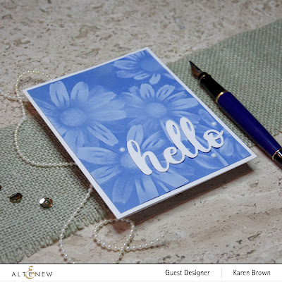 White pigment ink blended over 3D embossing folder