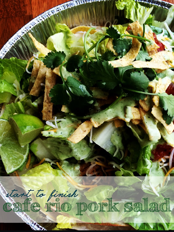 Complete Cafe Rio Sweet Pork Salad