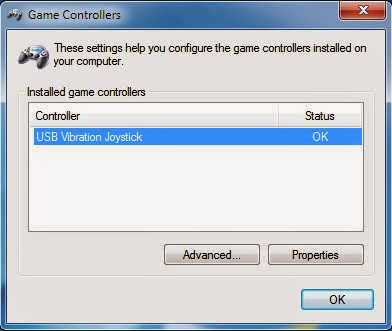 Game control panel in windows 7