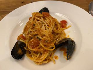 Spaghetti with mussels - Osteria del Carugio (Portovenere)