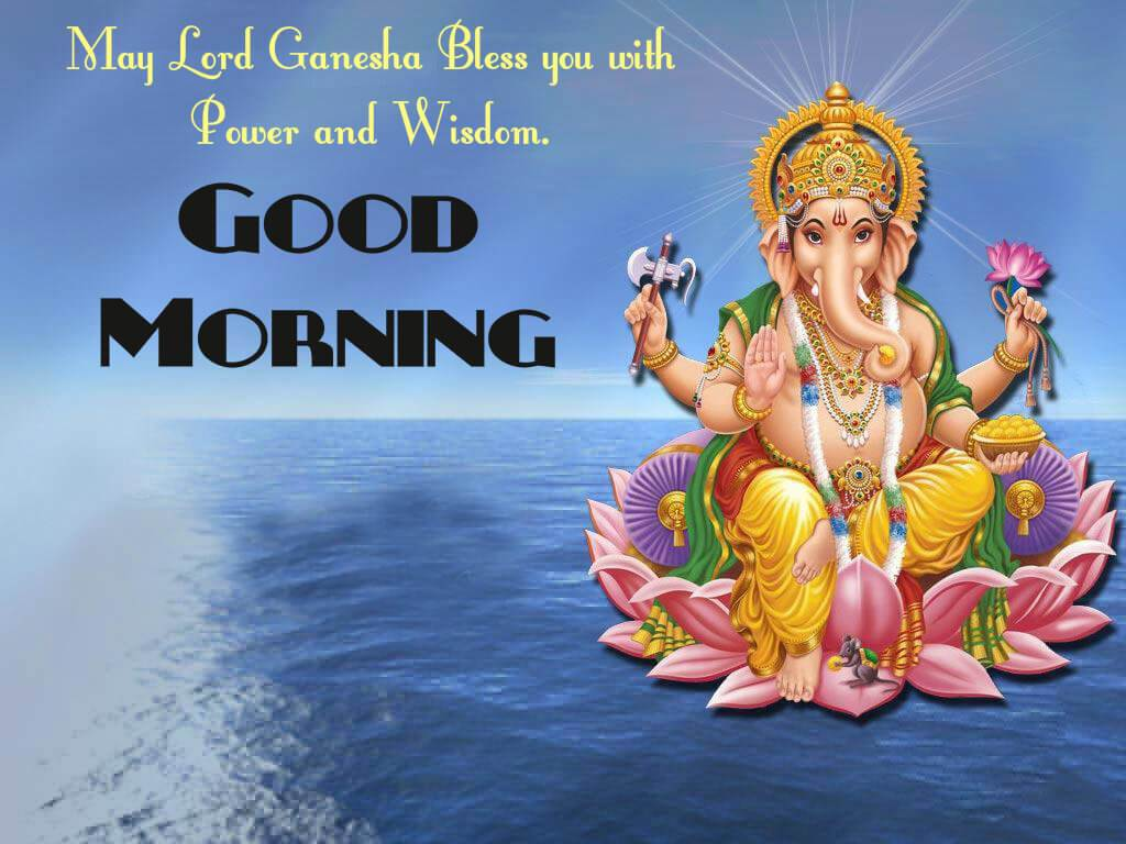 Lord Ganesh Good Morning Image