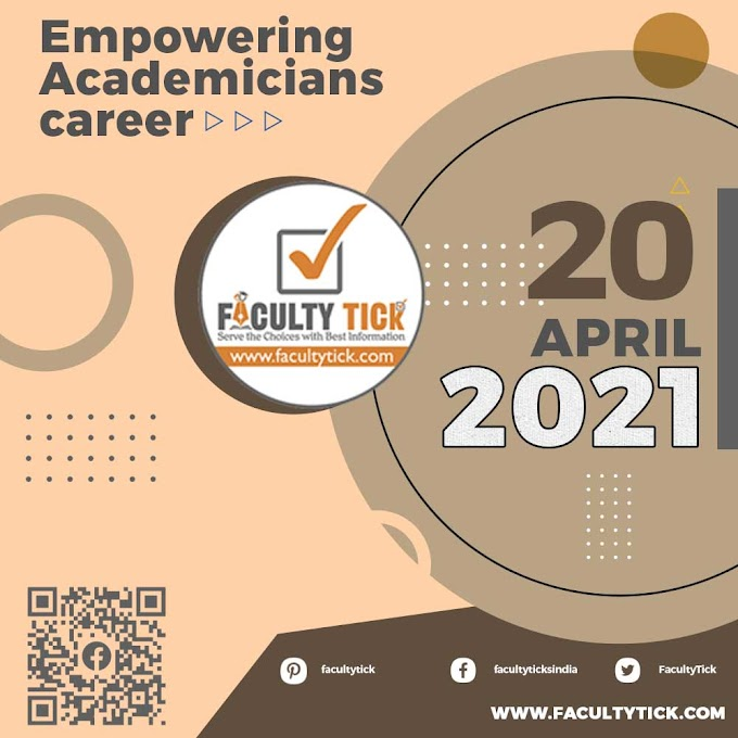 Teaching Faculty Job 20 April 2021 Announcement & Interview Notification By Faculty Tick