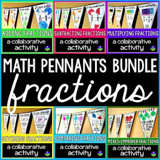 Fractions Pennants Bundle