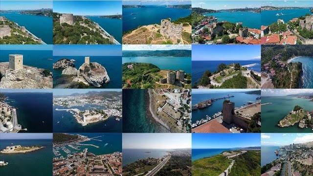 تركيا بالعربي - متحدية العصور قلاع تركيا الساحلية ترصدها الأناضول جوا