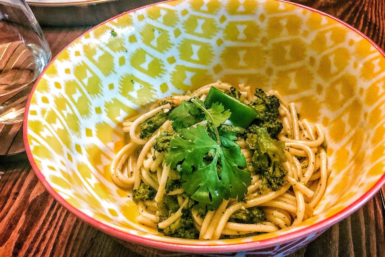 Instant Pot, Pressure cooking, Shrimp, Recipe, Cilantro coconut shrimp and broccoli pasta