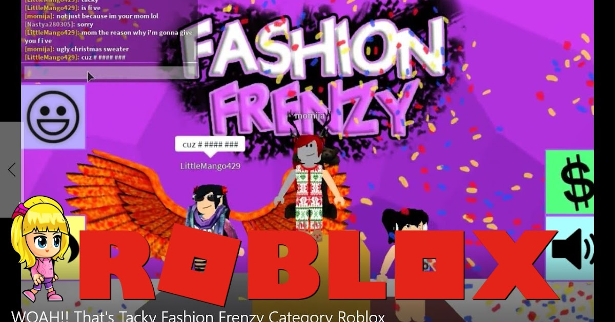 Roblox Fashion Frenzy Category WOAH   That s Tacky Gamelog   Chloe Tuber