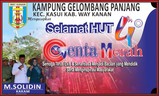Kampung Gelombang panjang Mengucapkan Selamat HUT 4Tahun Genta Merah