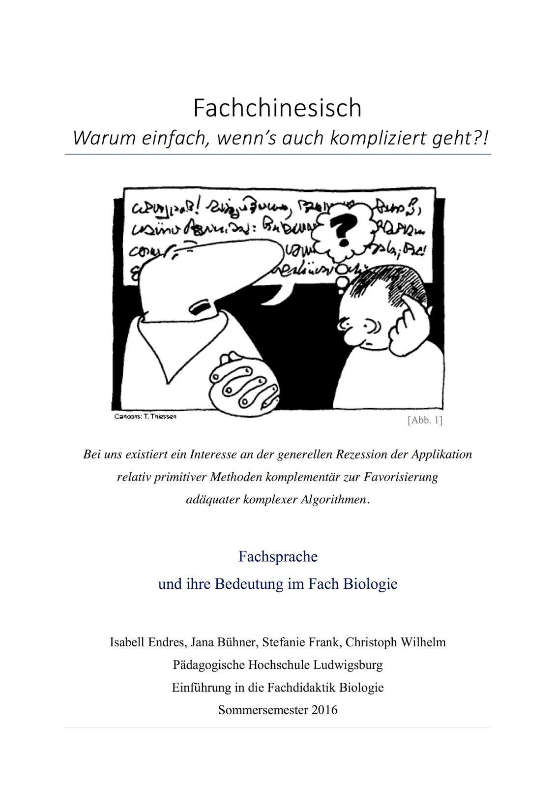 Einführung in die Fachdidaktik: Fachsprache und ihre Bedeutung im ...