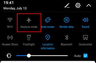 avionski režim na telefonu