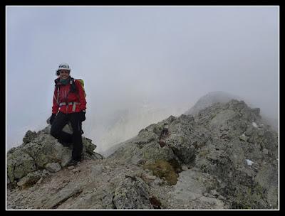 En la cima del Pico Rabadá