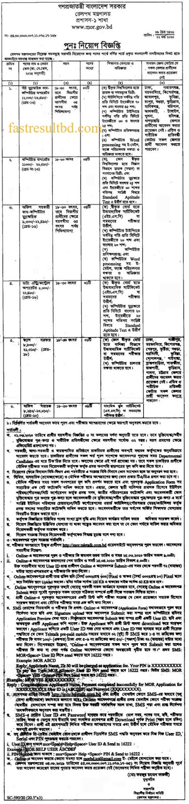 railway bangladesh job circular 2020 and application process