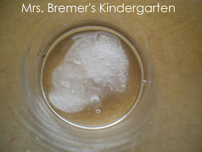 Kindergarten experiment to show why you should NOT eat snow!