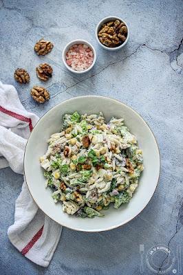 Orzo salata sa brokolijem i kuvanim jajima