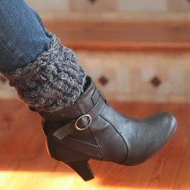 Loom knit textured boot toppers cuffs liners pattern free