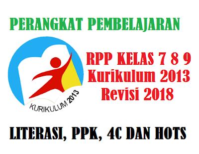 RPP PAI Kelas 7, 8, 9 Kurikulum 2013 Tahun 2018 Terintegrasi Literasi, PPK dan HOTS