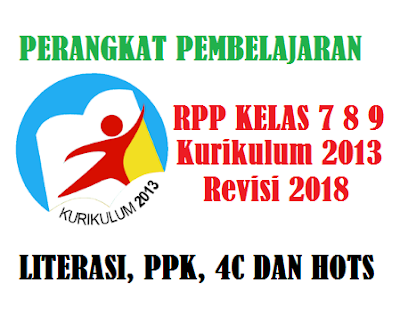 RPP Prakarya Kelas 7, 8, 9 Kurikulum 2013 Tahun 2018 Terintegrasi Literasi, PPK dan HOTS