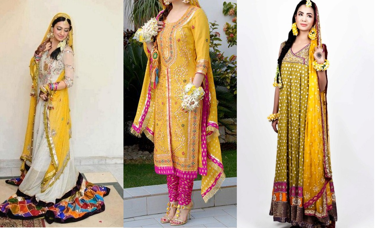 Mehndi Function Dresses : Best mehndi function dresses